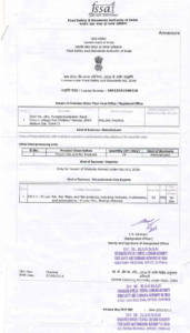 Part-2, FSSAI (Food Safety Standards Authority of India) Licence: Gudur Facility