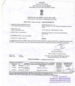 Part-3, FSSAI (Food Safety Standards Authority of India) Central Licence